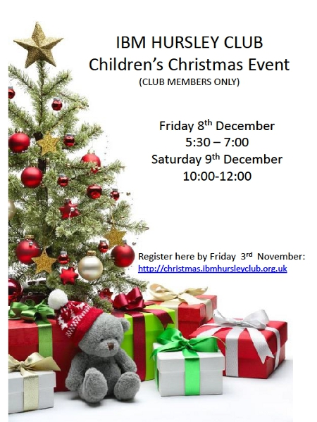 Children who are family members under 9 years of age can be registered to receive a present from Faher Christmas whilst those between 9 and 11 can be registered to receive a shopping voucher.